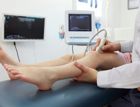 Ultrasound of knee-joint - diagnosis