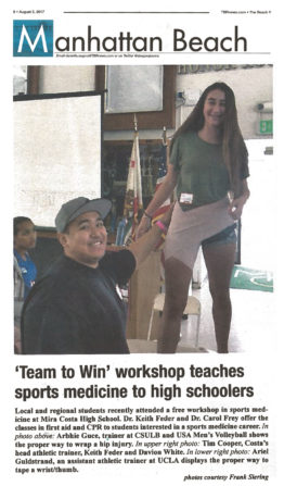 Dr. Feder and Team To Win mentioned in The Manhattan Beach Newspaper